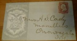 Us Stamps Rare Old George Washington 3 Cent Stamp On New York Cover Nice