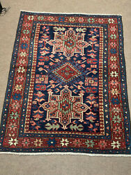Antique Hand Woven American Serapi Rug 3x5ft From Circa 1900