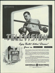 Heavyweight champ Joe Louis for General Electric Television ad 1947 $9.99