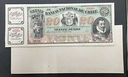 Chile Proof Banknote P S335 Front/back
