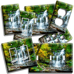 Forest Waterfall Cascade Nature Wonder Light Switch Outlet Wall Plate Room Decor