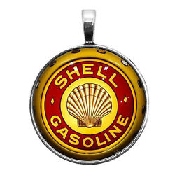 Shell Gas Globe Image Key Ring Necklace Cufflinks Tie Clip Round Ring Earrings
