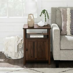 Farmhouse 18 Grooved Door Side Table
