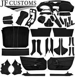 White Stitch Leather Covers For Corvette C6 05-13 Full Interior Recovery Kit