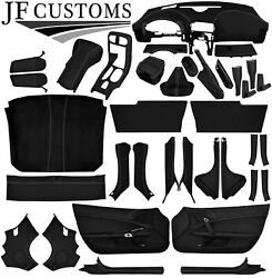 L Grey Stitch Leather Covers For Corvette C6 05-13 Full Interior Recovery Kit