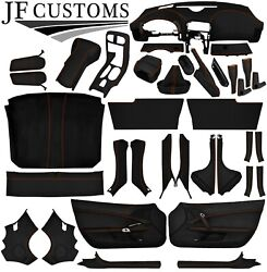 Orange Stitch Leather Covers For Corvette C6 05-13 Full Interior Recovery Kit