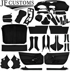 Black Stitch Leather Covers For Corvette C6 05-13 Full Interior Recovery Kit