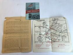 Vintage Wwii Camp Crowder Booklet 1944 Soldier Infantry Day Program And Map Y1