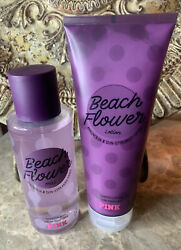 Victoria#x27;s Secret PINK Beach Flower Scented Mist and Scented Lotion Set 💕New $26.99