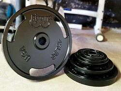 245 Pound 2 Olympic Plate Set For Barbell American Made Weight Plates Set New