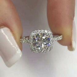 Cutesmile Fashion Jewelry Silver Crystal Square Rings Wedding