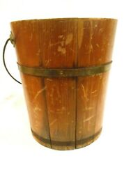 Vintage Wooden Maple Syrup Bucket