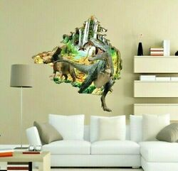 Wall Stickers for Kids Rooms 3D Dinasour Wall Stickers Decals Mural Wallpaper