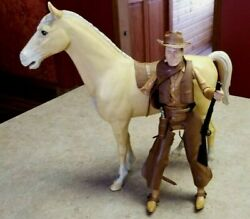 Vintage Marx Johnny West Figure Horse And Accessories Guns-knife-canteen-spurs-etc