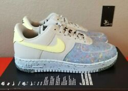 Nike Air Force 1 Crater Pure Platinum Grey Volt Greenblue Ct1986-001 Womenand039s 7.5