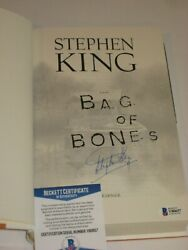 Stephen King Signed Bag Of Bones 1st Edition Beckett Coa And Collector's Magazine