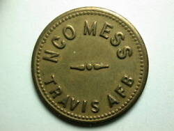 Travis Air Force Base Ca Nco Mess 5andcent Token