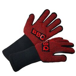 Bbq Gloves Heat Resistant Barbecue Grill Silicone Insulated Baking Accessories
