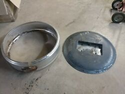 Vintage Steel Spare Tire Ring And Cover 29 O.d. Ford Chevy Dodge 1980s Rat Rod