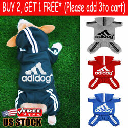 Pet Clothes for Cat Puppy Hoodies Coat Winter Sweatshirt Warm Sweater Dog Outfit $8.99