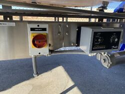 Stainless Steel Conveyor 4.5 X 5and039 Variable Speed Belt Tracker