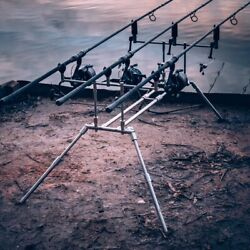 Ozcorp Fishing - Stainless Steel Rod Pod Loppe 3 Rods Version - Custom Made
