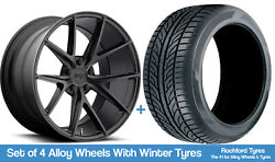 Niche Winter Alloy Wheels And Snow Tyres 19 For Ford C-max [mk1] 03-10