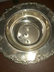 Fb Rogers Italy Silverplate Serving Bowl 12 Across