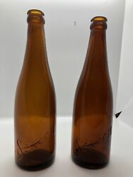 Vintage Amber Simon Pure Beer Bottle. In Very Good Condition 2