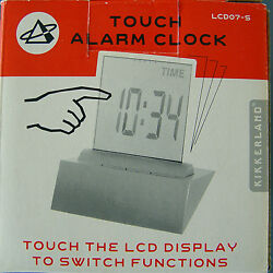 Clock Touch Alarm 4 In 1 Lcd Display Thermometer Calender Timer Kikkerland