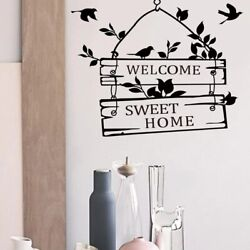 Welcome sweet home wall stickers home decor living room