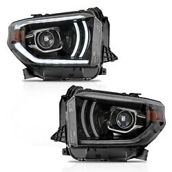 Customized Led Headlights W/drl Sequential Turn Signal For 2014-2020 Tundra