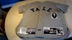 George H. Bush Signed Grey Flannel Yale Baseball Jersey-jsa Letter Authenticated