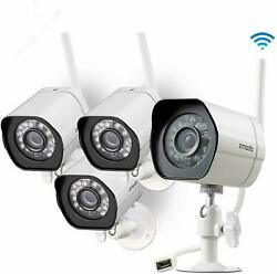 Zmodo 1080p Wifi Indoor/outdoor Home Security Cameras With Night Vision 4-pack