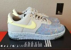 Nike Air Force 1 Crater Pure Platinum Grey Volt Green Blue Ct1986-001womenand039s 6.5