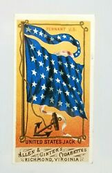 1887 N9 Allen And Ginter Cigarette Card Flags Of All Nations United States Jack