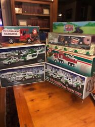 6 Classic Vintage Toys Hess Helicopter Esso 7-11 Dunking Donuts Trucks Vehicles