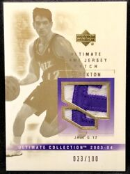 John Stockton 03-04 Upper Deck Ud Ultimate Collection Letter T Patch 033/100