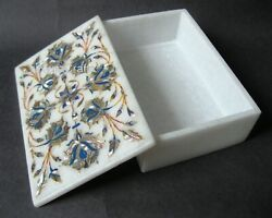 6 X 4 Inches Marble Decorative Box Beautiful Abalone Shell Inlay Brooches Box