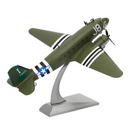 1/100 Wwii C-47 Transport Aircraft Model Toys W/ Stand Playset