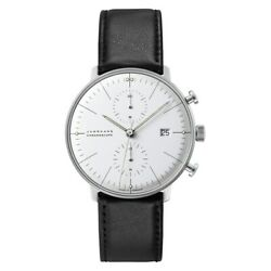 Junghans Menand039s Max Bill Chronoscope Automatic Watch - 027/4600.00 New