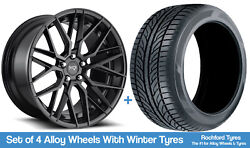 Niche Winter Alloy Wheels And Snow Tyres 19 For Ford Focus [mk2] 04-11