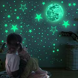 858 PCS Glow in The Dark Stars Wall Stickers Wall Decals Realistic Colour2