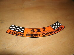 Ford 427 High Performance Engine Air Cleaner Decal 7