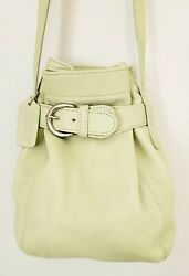 NWOT Coach SOHO Belted Pouch Bucket Leather Crossbody Bag 4156 MINT GREEN $498 $99.95