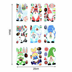 9× PVC Stickers Static Removable Decals Easter Wall Art Decoration 20X 30CM