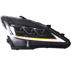 Free Shipping To Pr For 2006-2013 Lexus Is250 Sedan Clear Led Headlights W/drl