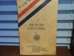 June1917wwi How The War Came To America Woodrow Wilson Name On Cover In Question