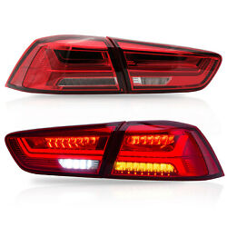 Free Shipping To Pr For 08-17 Lancer Red Clear Led Sequential Taillights