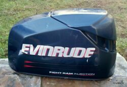 2002-2003 Evinrude Ficht 75 90 115 Hp Outboard Motor Cover Hood Cowling 5004953
